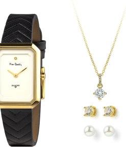 Pierre Cardin Geschenk Set Uhr & Halskette & Ohrringe PCDX8381L20