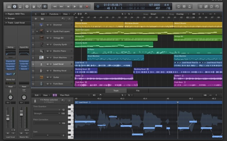 How to change the pitch in Logic Pro X