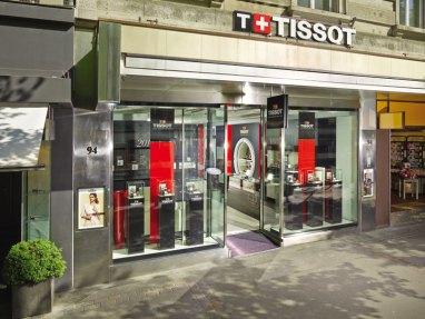 Vitrine de la boutique suisse de Tissot