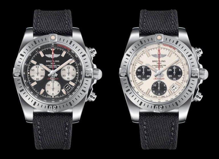 La Chronomat Airborne Breitling cadran argent et noir