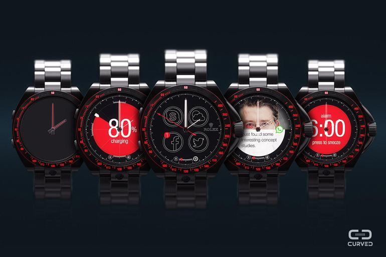 La smartwatch Rolex imaginée par Curved
