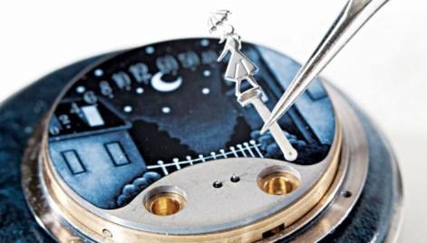 Travail sur le cadran de la montre Van Clee & Arpels