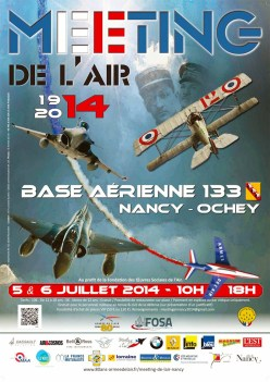 Affiche du Meeting de l'air 2014 à la base aérienne 133 Nancy-Ochey