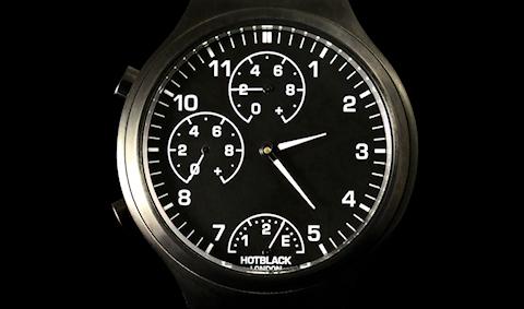 Cadran de la smartwatch Hotblack