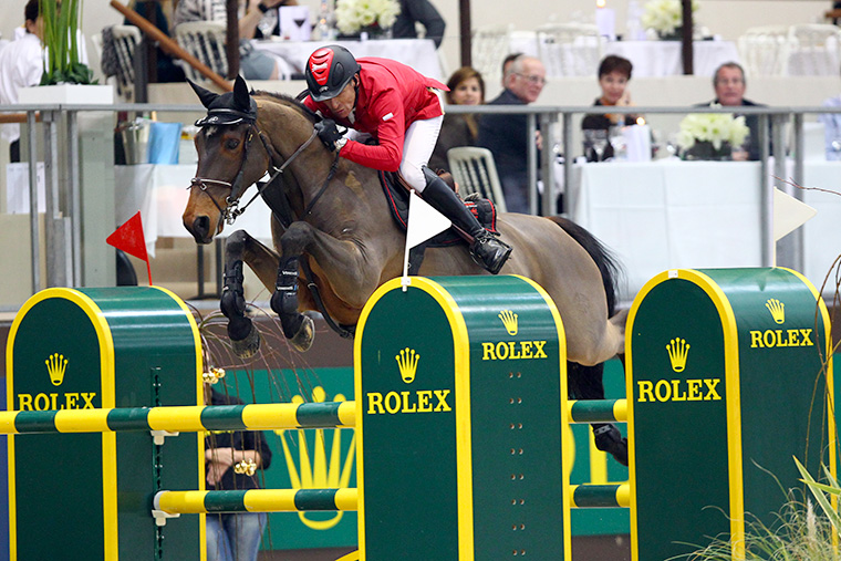 Rolex partenaire des jeux equestres mondiaux Saut obstacle
