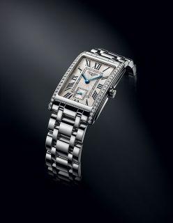 The Longines DolceVita vue 3/4 bracelet acier