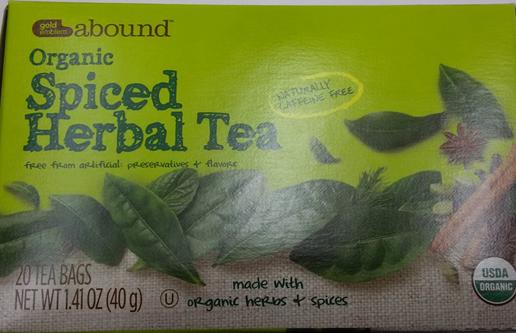 Gold Emblem Abound Organic Spiced Herbal Tea_202236