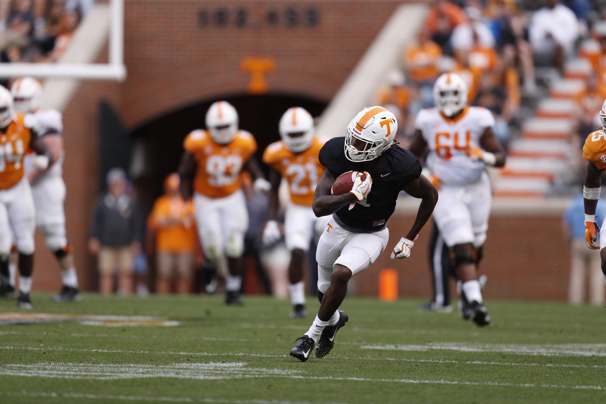 Marquez Callaway in Orange and White Game