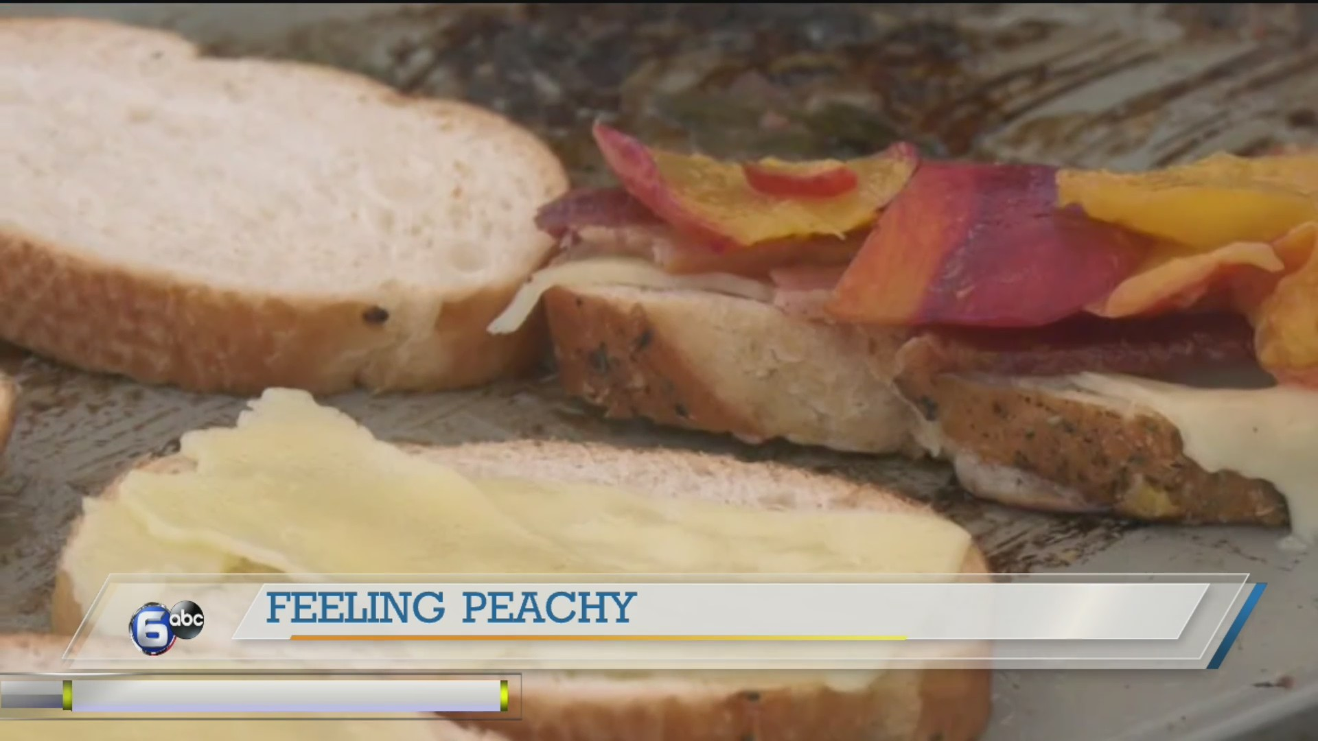 Chef Scott Whittaker cooks up a delicious peach sandwich