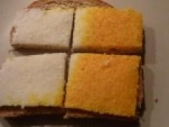 Een boterham met kokosbrood