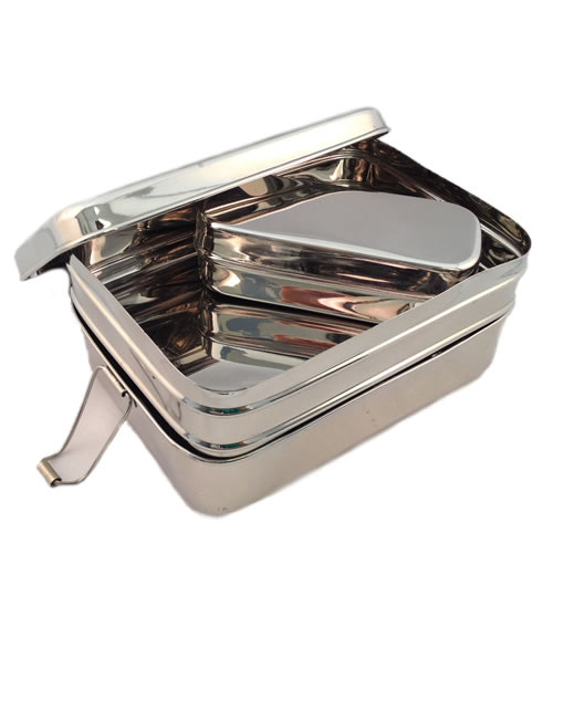 Sustain-a-Stacker 3 Piece Stainless Steel Lunchbox - Large