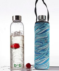 Beautiful Beaches Glass is Greener Bottle & Cover Combo 750ml - SEALEAF