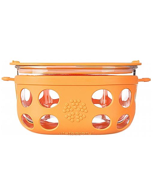 Lifefactory 950ml Glass Storage - Orange