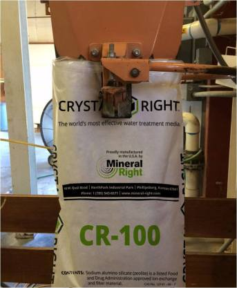Crystal-Right bagged for distribution.