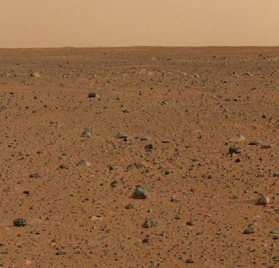 photograph of waterless planet mars