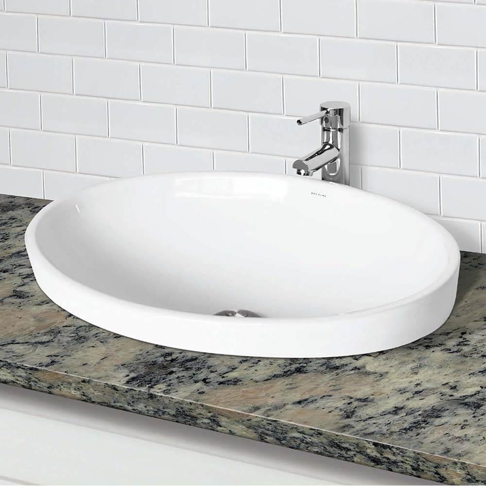 semi recessed oval lavatory
