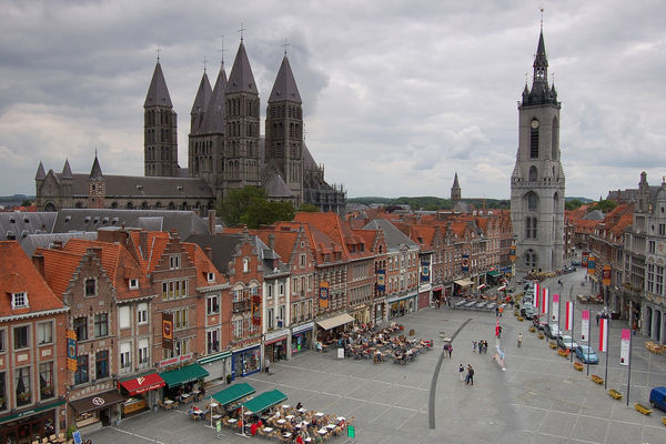 Tournai from above