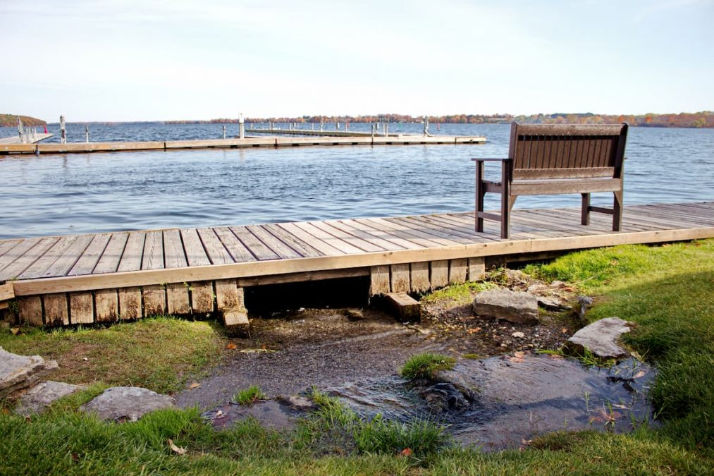 Newboro harbour, just a short boat ride away from Westport.