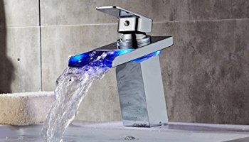 Bathroom Faucets With Lights derpras dp-fc01 led sink faucet,3 colors changing,water power