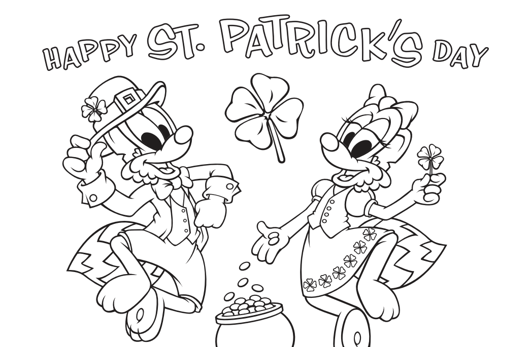 St Patrick S Day Coloring Page Waterford Upstart