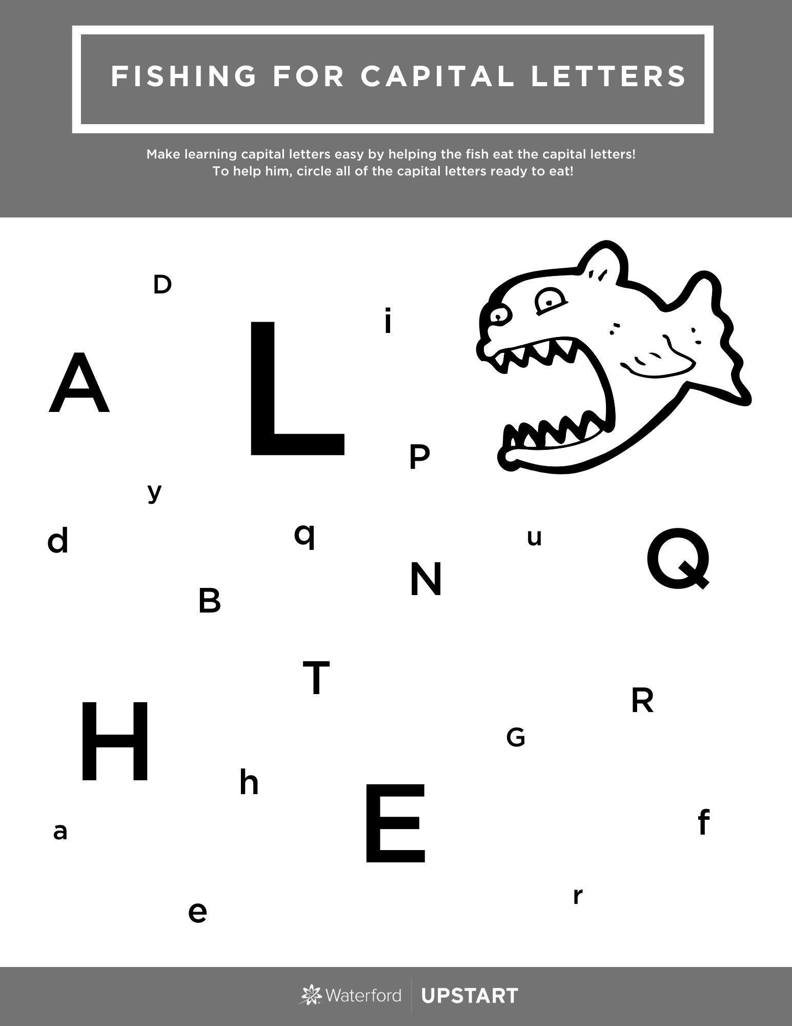 Fishing For Capital Letters Worksheet