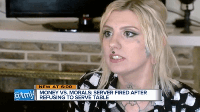 Waitress refuses to serve couple over transgender comments