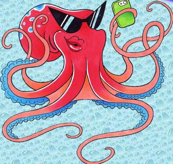 imita l'octopus, scatta un #selfiedacqua