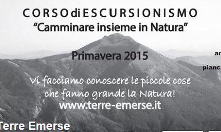 Corso di escursionismo: il 22 marzo con Terre Emerse