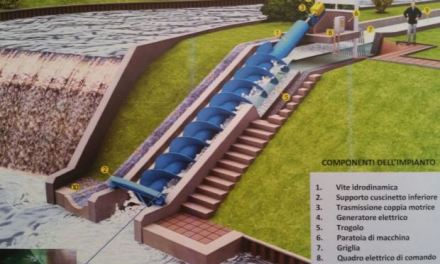 Idroelettrico sostenibile. Marchio di fabbrica della Camu Lenzi
