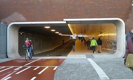 Un tunnel… per le bici ad Amsterdam