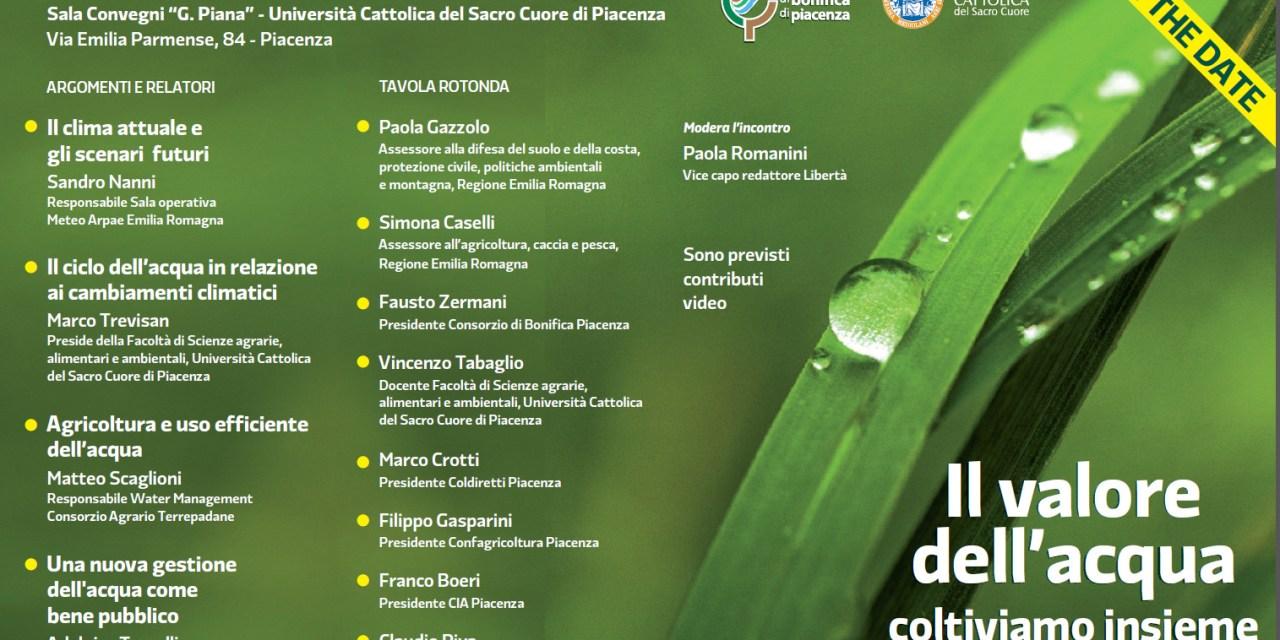 Il valore dell'acqua. Un convegno a Piacenza