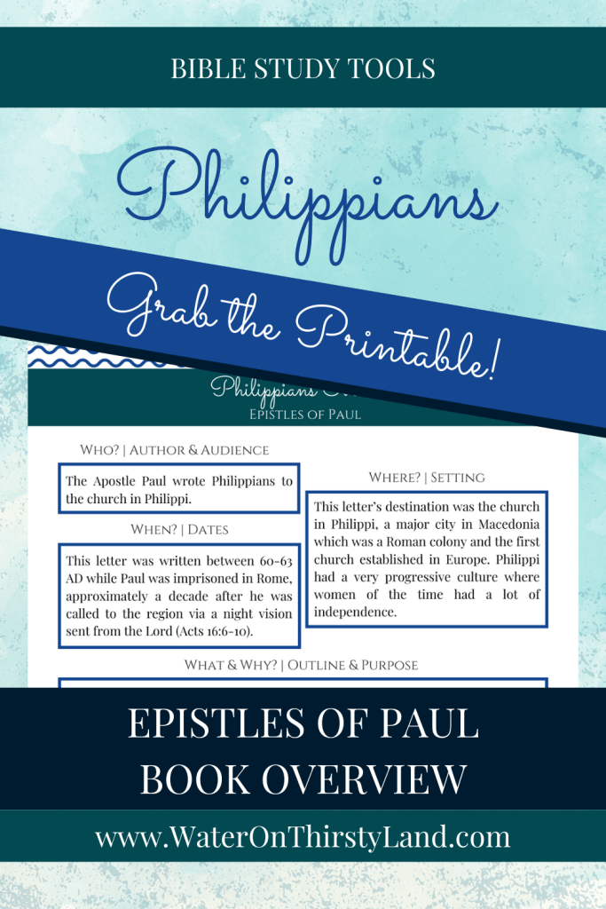 Philippians Book Overview Printable