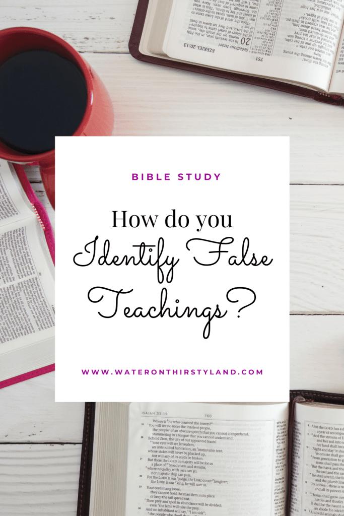 Identifying False Teachings