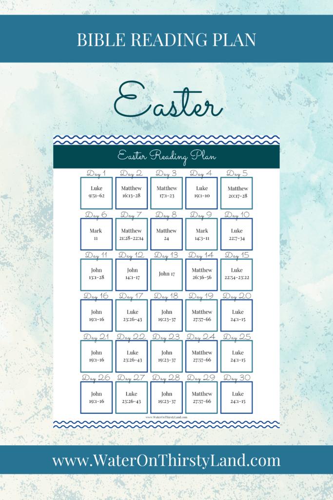 Easter Bible Reading Plan