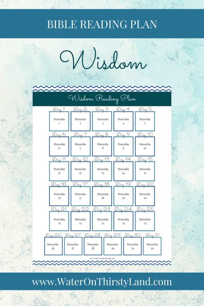 Wisdom Bible Reading Plan