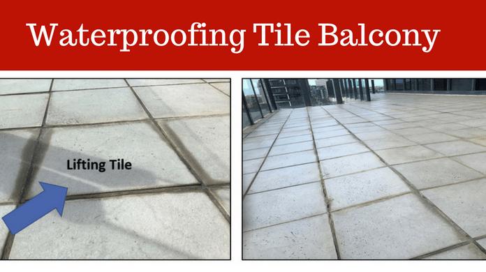 waterproofing company tiled balcony