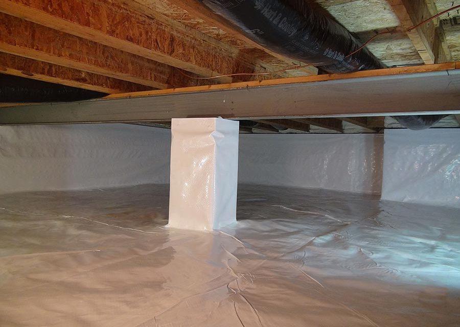 sealed crawlspaces concrete vs