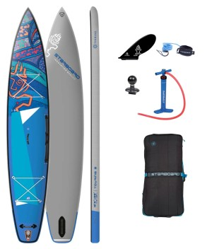 """tribord gonflable sup 12'6"""" x 28"""" x 4.75"""" touring s tikhine wave deluxe sc 2022 package"""