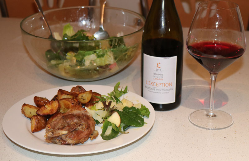 Duck confit and burgundy