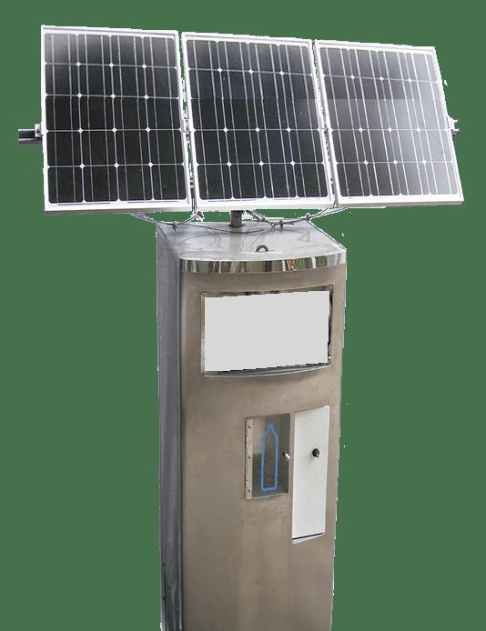 Solar Powered Water Vending Machine