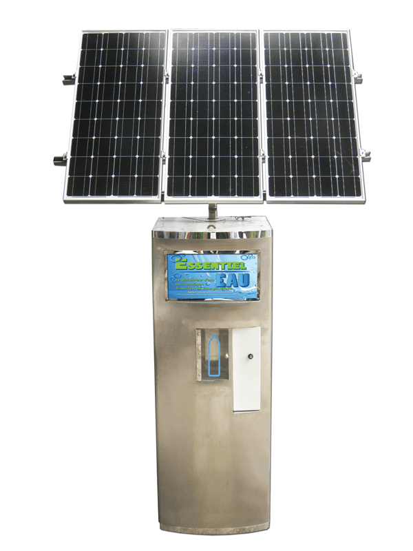 Water Vending Machine with Solar Power