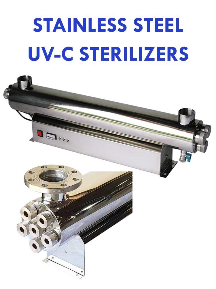 STAINLESS STEEL UV-C STERILIZERS