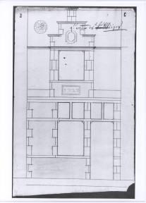 1728 - voorgevel - tweede kwart zeventiende eeuw - bouwaanvraag SAG R 535/73-3 (1728). Beeld: Stadsarchief Gent, opname: 1995