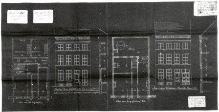 1919 - voorgevel - plan - doorsnede best. en nieuwe toest - bouwaanvraag SAG G12 1919-B36. Beeld: Stadsarchief Gent, opname: 1995