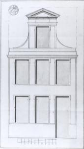 1776 - voorgevel - vierde kwart achttiende eeuw - bouwaanvraag SAG R535/73-9 (1776). Beeld: Stadsarchief Gent, opname: 1995