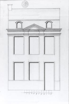1777 - voorgevel - vierde kwart achttiende eeuw - bouwaanvraag SAG R535/73-10 (1777). Beeld: Stadsarchief Gent, opname: 1995