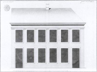 voorgevel - vierde kwart achttiende eeuw - bouwaanvraag SAG R535-285/15 (1783). Beeld: Stadsarchief Gent, opname: 1995