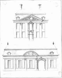 gevelplan - derde kwart achttiende eeuw - bouwaanvraag SAG R535 221 6 (1753) - hoek met de Oudevest - Minnemeers. Beeld: Stadsarchief Gent