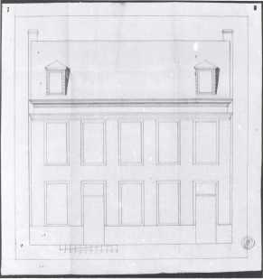 1779 - gevelplan - derde kwart achttiende eeuw - bouwaanvraag SAG 535-197/7 (1779) - een herberge wesende genoemt de gaublomme staende omtrent de Minnemeersbrugge. Beeld: Stadsarchief Gent, opname: 1995