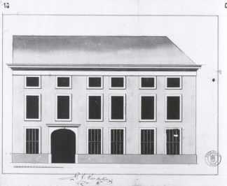1787 - gevelplan -derde kwart achttiende eeuw - bouwaanvraag SAG 535-197/10 (1787). Beeld: Stadsarchief Gent, opname: 1995